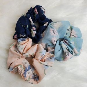 3-Pack Assorted Floral Scrunchies